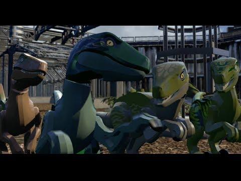 LEGO Jurassic World Walkthrough - Raptor Tracking (1080p60HD)