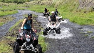 Legazpi Philippines: Atv'ing up volcanoes, climbing up volcanic rock, and ziplining! Thumbnail
