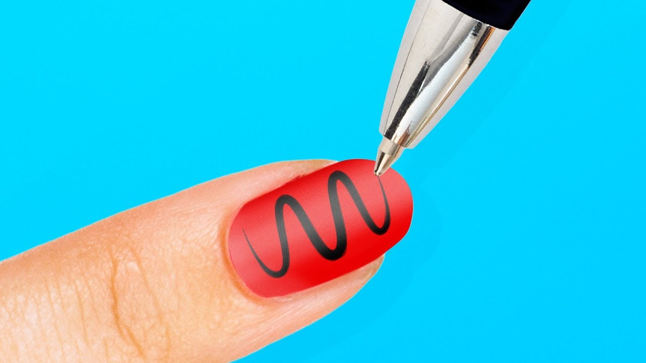 5 minute crafts nail art
