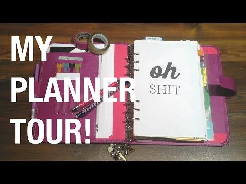 Filofax Planner Tour // My Everyday Planning & Blog Planner