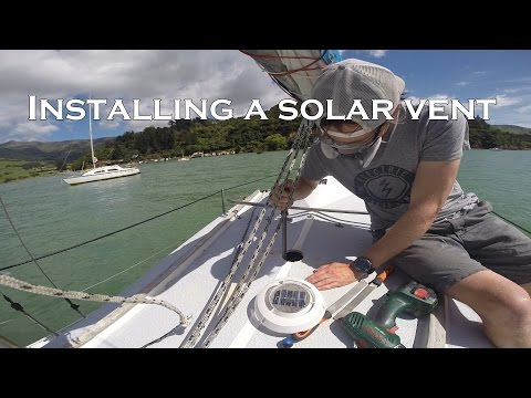 Installing a solar vent to Southerly 23