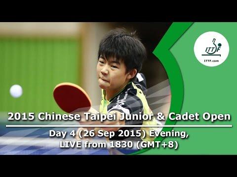 2015 Chinese Taipei Junior & Cadet Open - Day 4 Evening