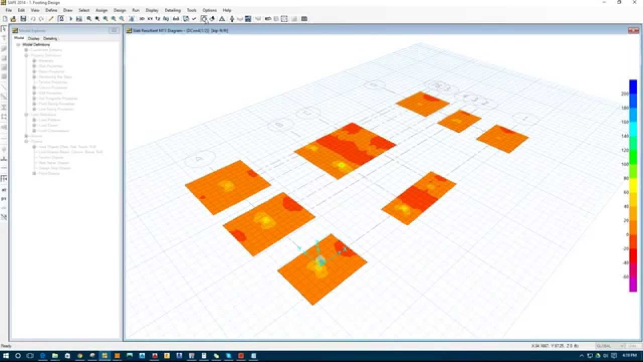 Footing Design in SAFE 2014 using the File Exporting from ETABS to SAFE  (Full Process)