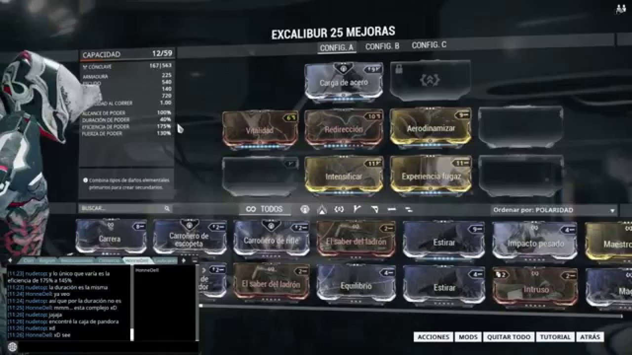 Problema Con Mods Warframe Excalibur YouTube