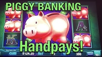 HANDPAYS on 🐷 Lock it Link Piggy Bank 🐷Slot Machine (high limit)