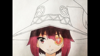 How to draw Megumin (Kono Suba)