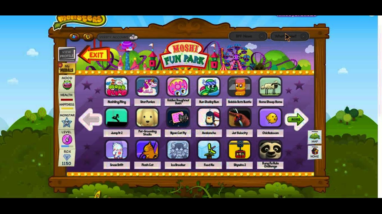 Moshi monsters fun park moshling fling and more first row