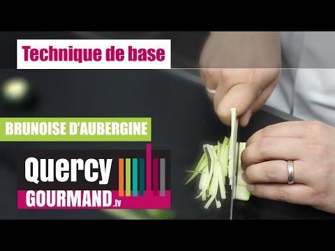 Comment faire une brunoise d'aubergine – quercygourmand.tv