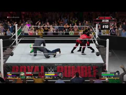 W2k16 Royal Rumble with Custom Creations