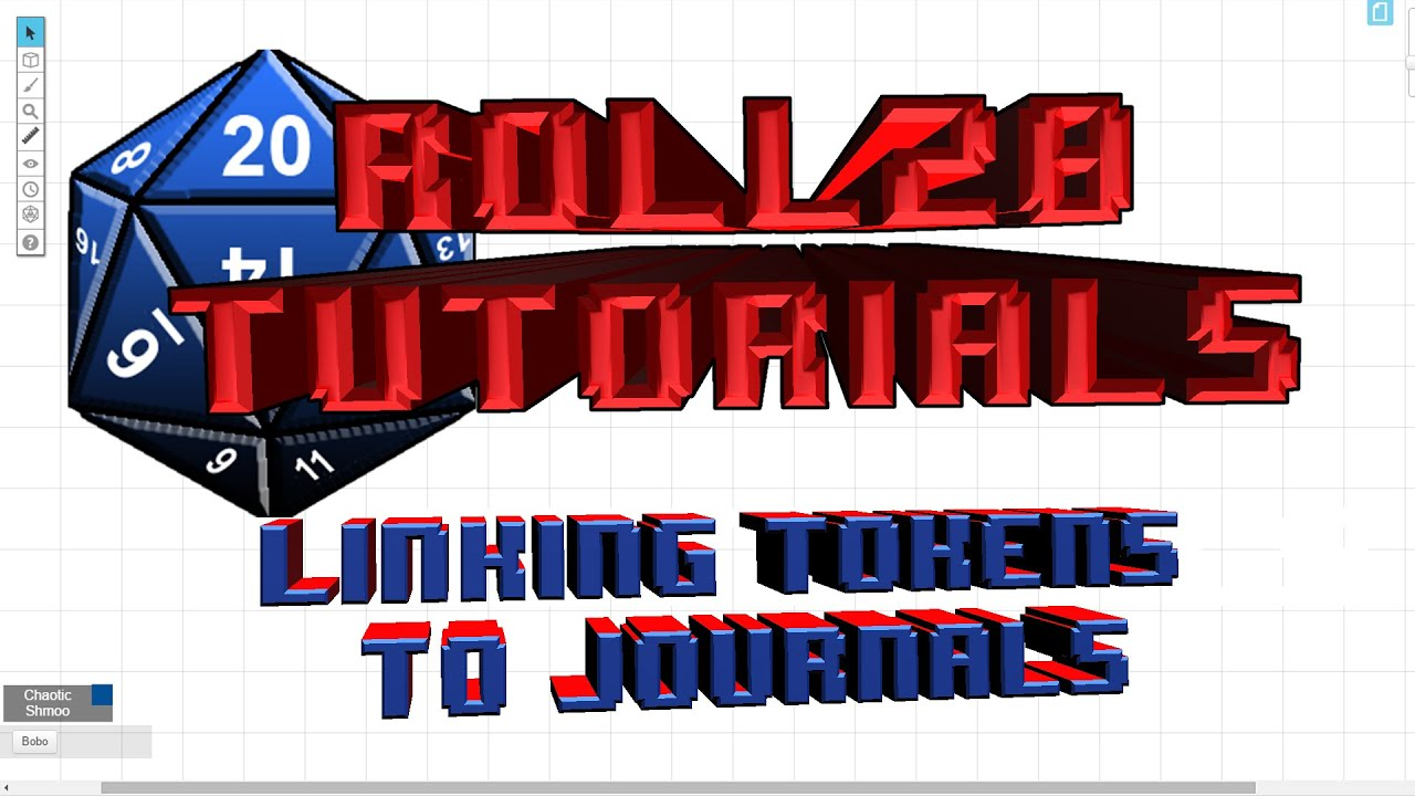 Roll20 net Tutotial 10: Linking Tokens and Journals