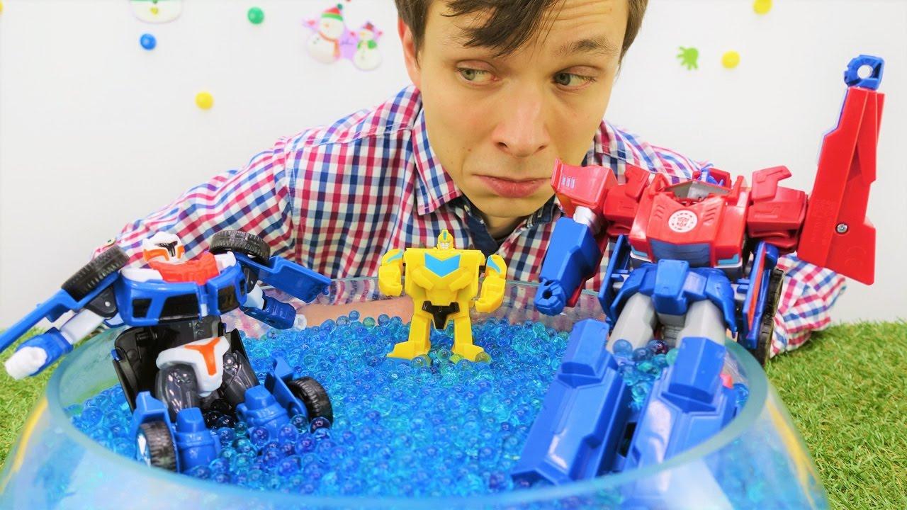 Смотреть игрушки трансформеры видео