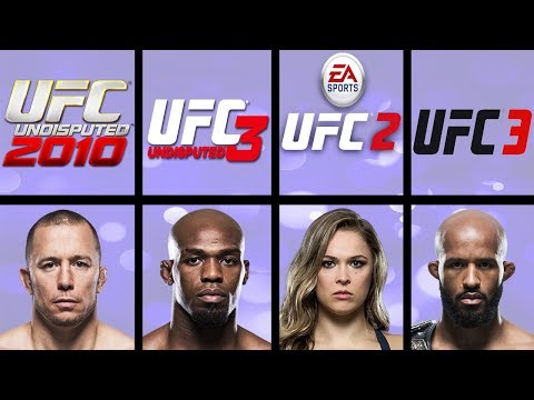 Highest Rated Fighters In UFC Video Games (UFC 2009 Undisputed - UFC 3)