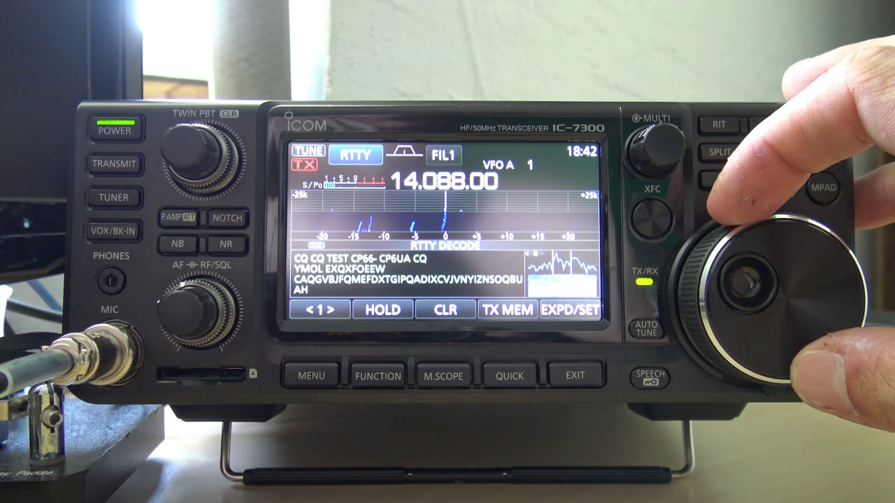 Icom IC-7300 RTTY Decode Demonstration