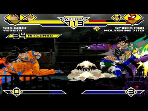 Team Son Goku vs Team Spiderman 4v4 Patch MUGEN 1.0 Battle!!!