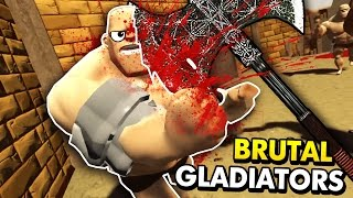 CHALLENGING GLADIATOR BATTLES IN VIRTUAL REALITY! (GORN VR HTC Vive Funny Gameplay)