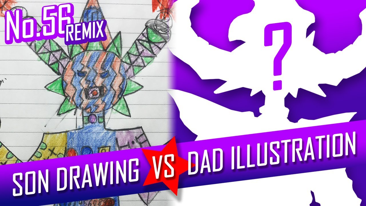 SON DRAWING VS DAD ILLUSTRATION - Gynoid Queen No.56 REMIX