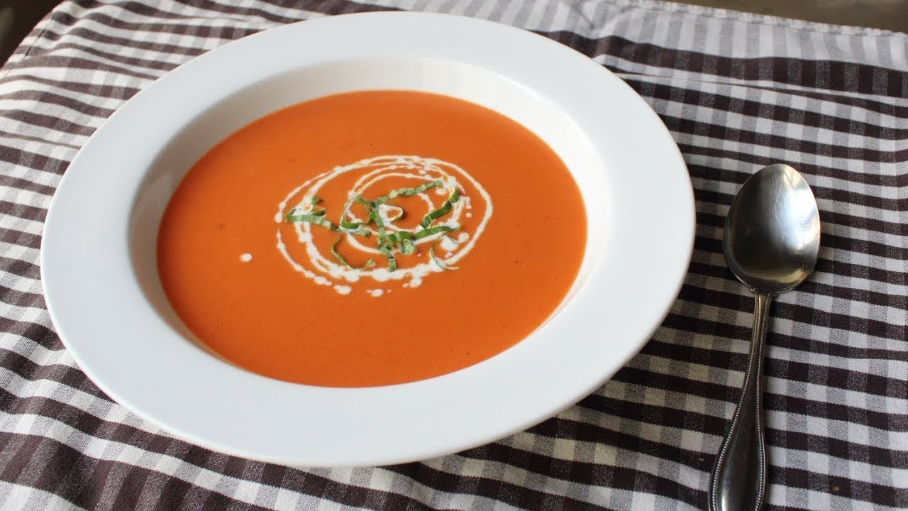 Tomato BisqueCreamy Tomato Soup RecipeYouTube