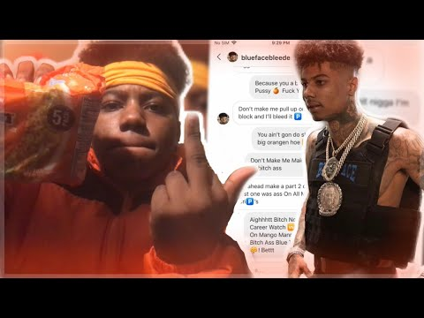 BLUEFACE Dm'd ORANGEFACE About The Diss Track On Him !