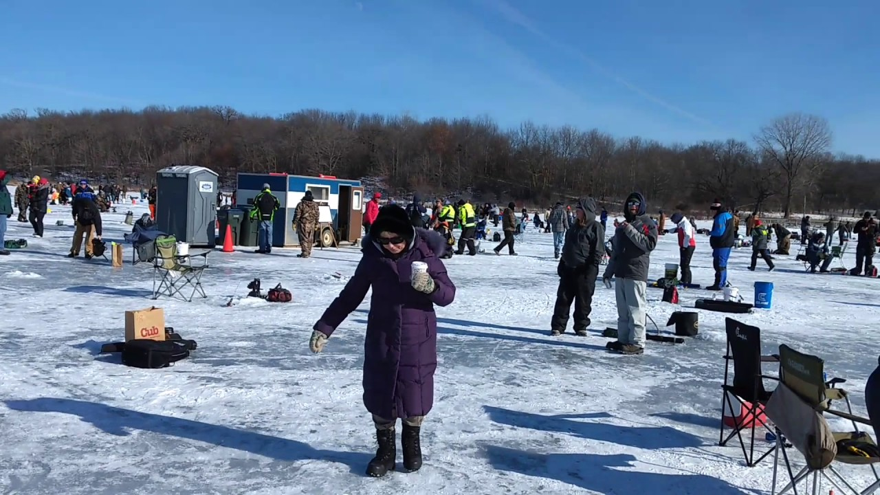 Ice fishing contest today on steiger lake youtube for Ice fishing extravaganza