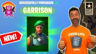 NEW Military Garrison skin gameplay - Fortnite Father is Fifty