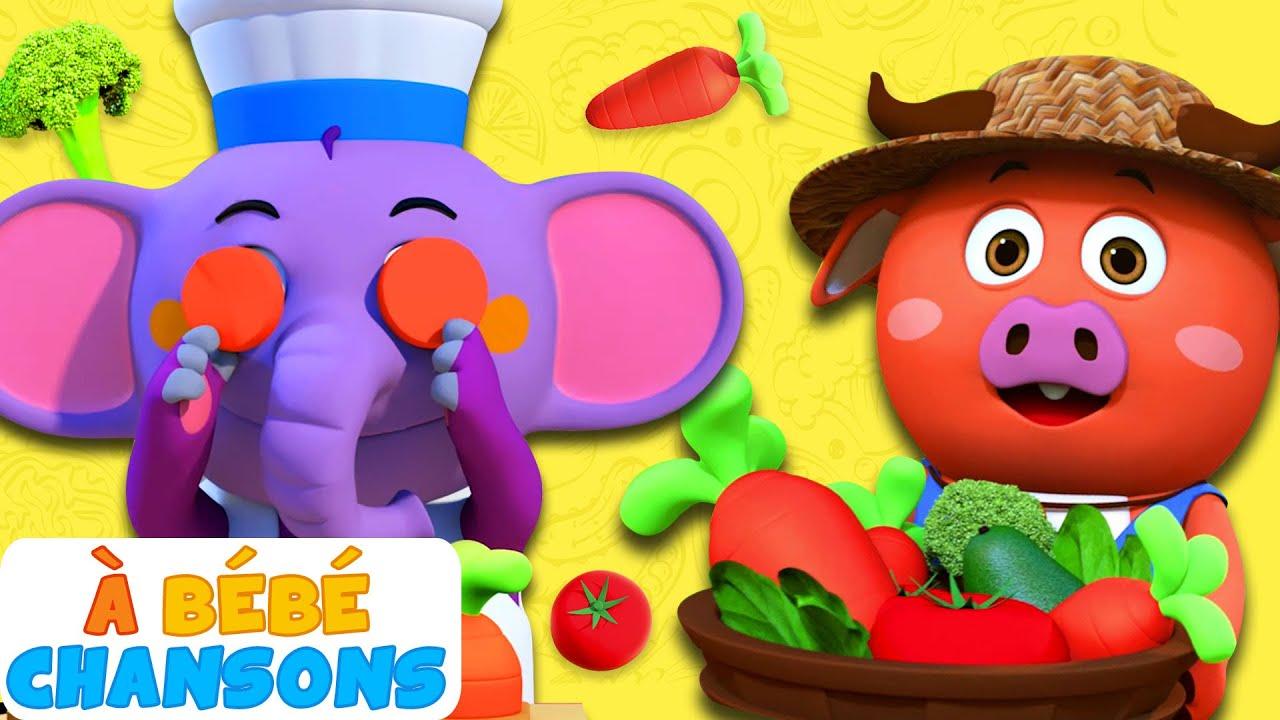 Vegetable Song - Chanson des légumes   Comptines bébé   À Bébé Chansons   Musique pour enfants