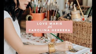 HOW I PAINT MY BAGS: LOVE MARIE FOR CAROLINA HERRERA | Heart Evangelista