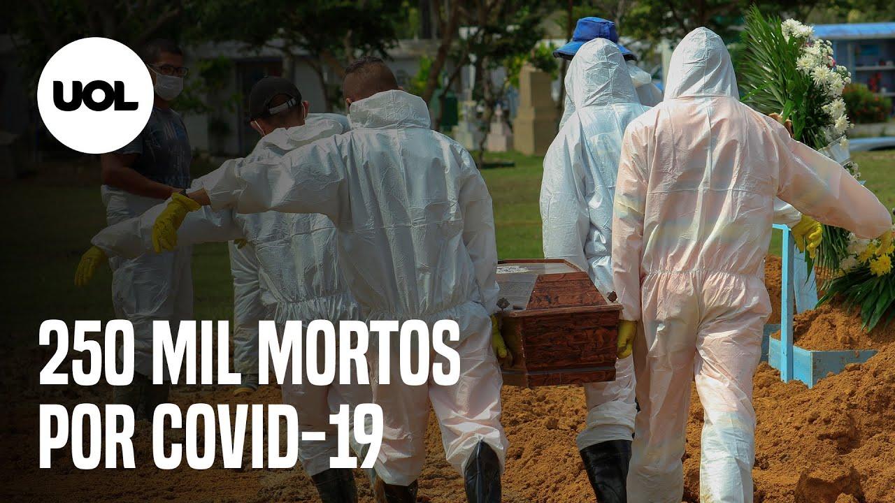 Brasil atinge 250 mil mortes por covid-19 e tem momento mais grave da pandemia