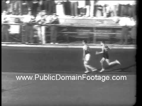 1938 Glenn Cunningham mile runner newsreel archival footage