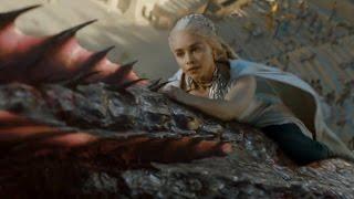 Игра престолов. Дейнерис на драконе Дрогон