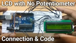 Arduino - connect LCD without Potentiometer| Full Tutorial | no Pot / Resistor | KesPra ✔