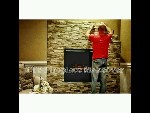 How to Install Stone to Makeover Your Fireplace - OurHouse DIY