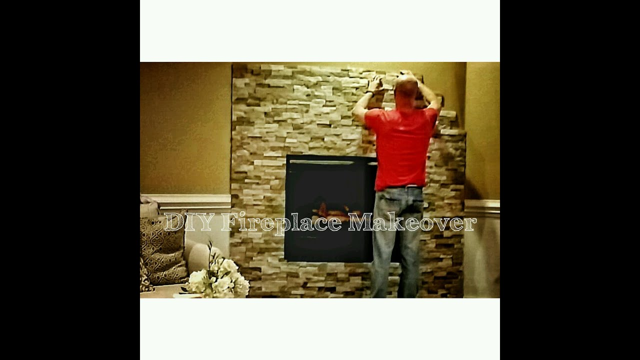 How to Install Stone to Makeover Your Fireplace - OurHouse DIY ...