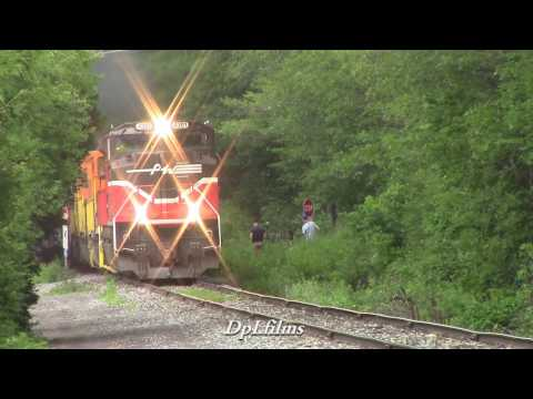 Final Run of Providence and Worcester Railroad SD70M-2 # 4301!! 7/13/2017