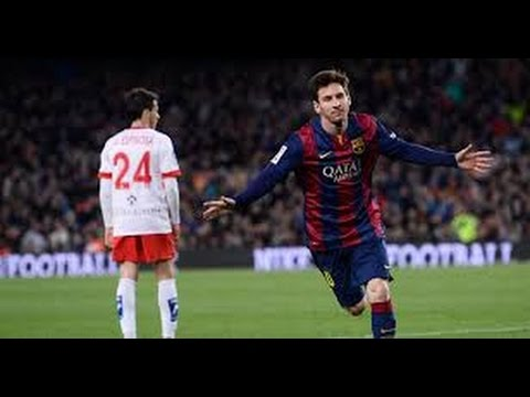 Lionel Messi retries to vomiting during the game against Almeria l FC Barcelona 2015