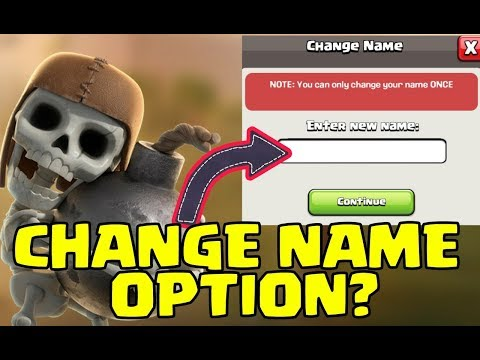 NAME CHANGE OPTION IN CLASH OF CLANS
