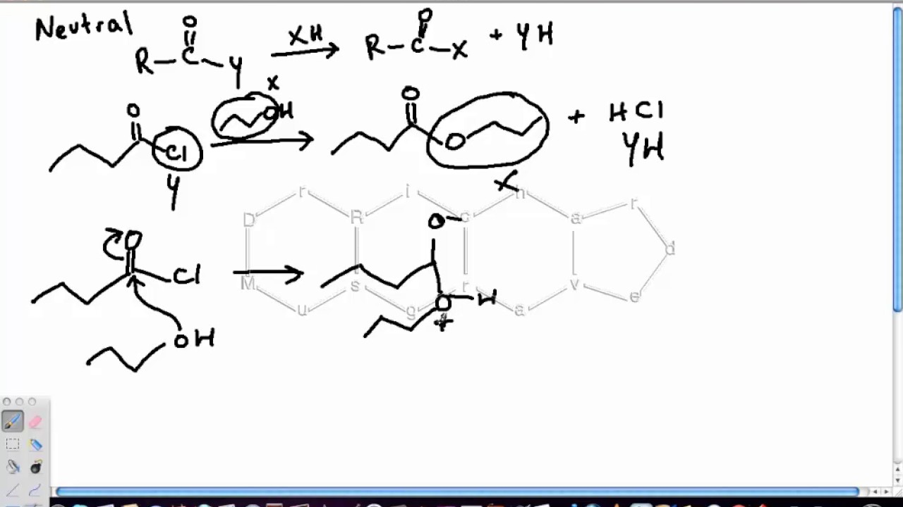 Reactions of Acid Chlorides with Alcohols - YouTube