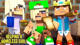 BABY KAYLA SAVES A HOMELESS GIRL... Minecraft