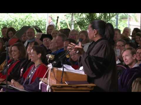 Oprah Winfrey speaks at Agnes Scott College's 128th Commencement