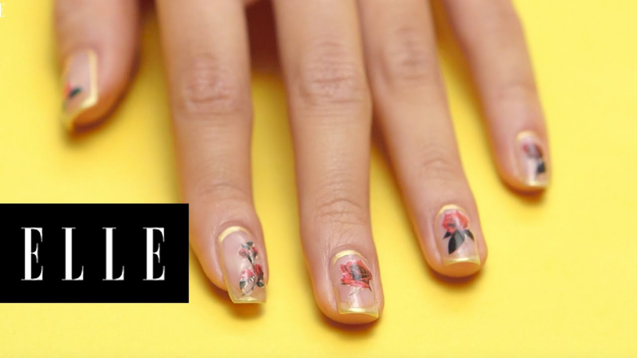 Rose Gold Nail Design Elle Youtube