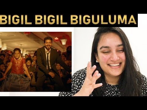 Bigil Bigil Bigiluma Video REACTION | Thalapathy Vijay | Nayanthara | A.R Rahman | Atlee | Let's💃🕺