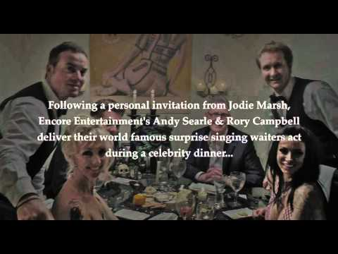 CELEBRITY COME DINE WITH ME JODIE MARSH WAITERS ENCORE
