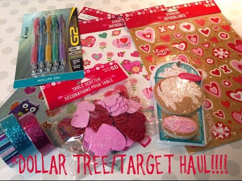 DOLLAR TREE and TARGET Haul!!! {Valentine's Day items, planner goodies and misc.}