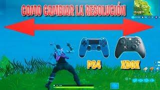 Cómo poner la RESOLUCIÓN ESTIRADA en CONSOLA para JUGAR MEJOR a FORTNITE! (Xbox)