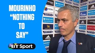 "Jose Mourinho has ""nothing to say"" after Chelsea are beaten 3-1 by Liverpool"