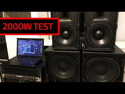 Speakers test 2000W B&C RCF t.amp TSA 4-1300