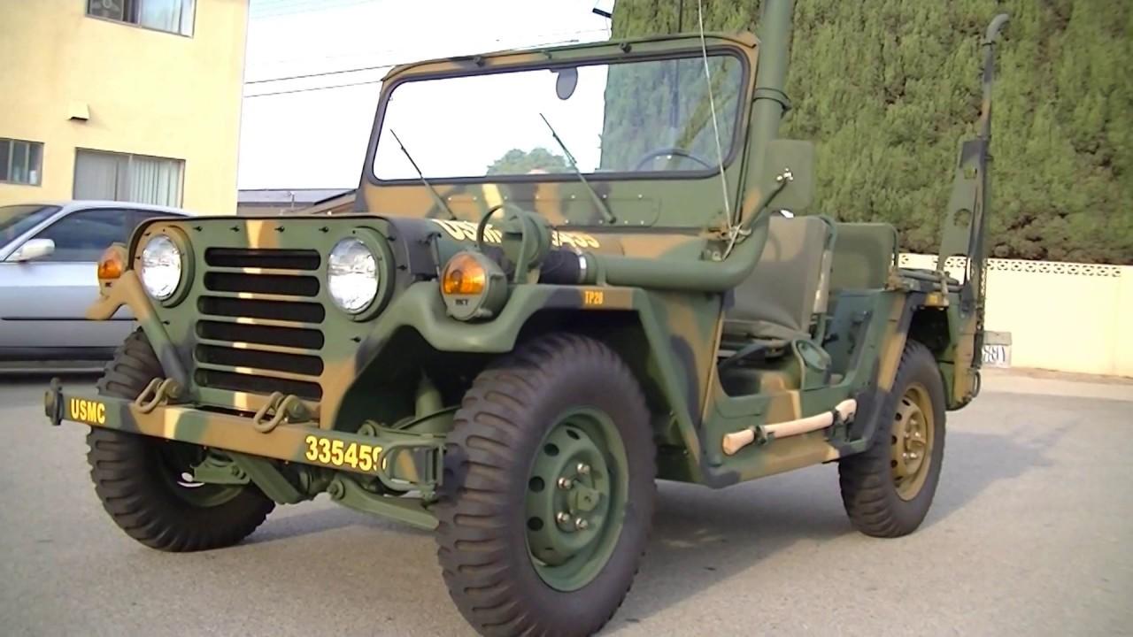 Military Jeep For Sale >> AM General Jeep Original UNCUT 1971 USMC M151A2 MUTT - YouTube