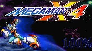 Mega Man X4 [X] - Walkthrough 100% [HD]