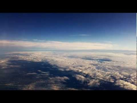 Flying among clouds. Novosibirsk-Moscow