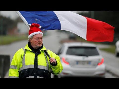 """""""Coletes amarelos"""" em toda a França"""