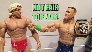 WWE ACTION INSIDER: Ric Flair WrestleMania Heritage Mattel Basic Series 48 Wrestling Figure!